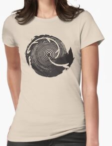 The Twilight Zone : BW // DJ Womens Fitted T-Shirt