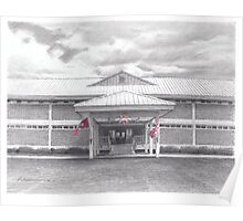 marine battalion building drawing Poster