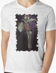 Morrigan Tarot Card Mens V-Neck T-Shirt