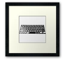 Computer Keyboard Framed Print