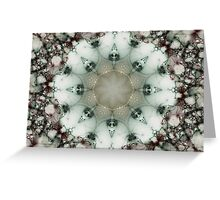 Creamy Mosaic - Fractal Art Greeting Card