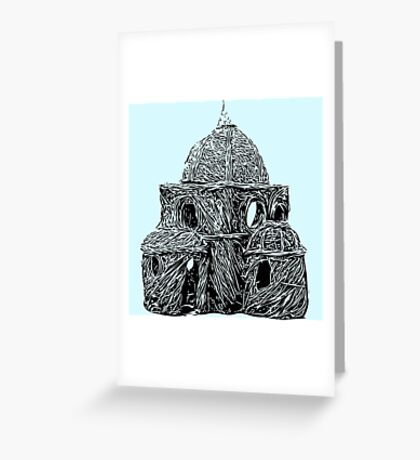 Willow Hut Greeting Card