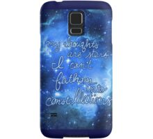 My Thoughts are Stars I Can't Fathom Into Constellations TFIOS Samsung Galaxy Case/Skin