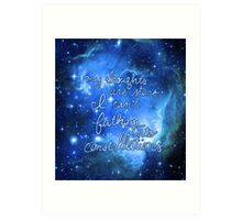 My Thoughts are Stars I Can't Fathom Into Constellations TFIOS Art Print