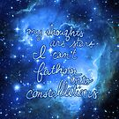 My Thoughts are Stars I Can't Fathom Into Constellations TFIOS by AdrienneOrpheus