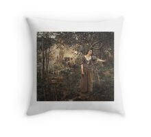 Joan of Arc , Jules Bastien-Lepage (French, Damvillers Paris) Throw Pillow