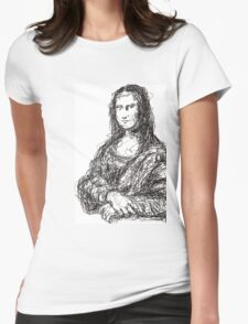 Conceptual Monalisa Womens Fitted T-Shirt