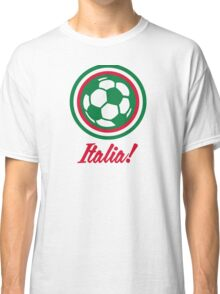 Football coat of arms of Italy Classic T-Shirt