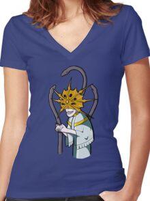Dark Sun Gwyndolin Women's Fitted V-Neck T-Shirt