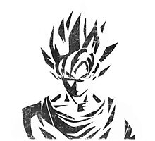 Goku Black White Photographic Print