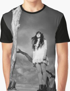 High Fashion model on tree. Graphic T-Shirt