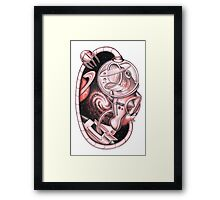 The Basstronaut Framed Print