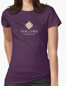 Fine Lines Nail and Beauty Salon Womens Fitted T-Shirt