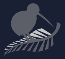 Kiwi Bird and a Silver fern New Zealand  One Piece - Long Sleeve