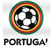 Football coat of arms of Portugal Poster