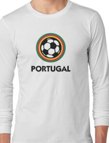Football coat of arms of Portugal Long Sleeve T-Shirt