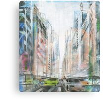 city rush 1 Canvas Print