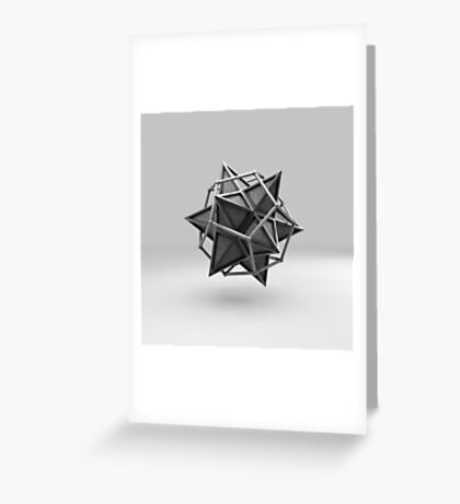 Caged Stellated Dodecahedron Greeting Card