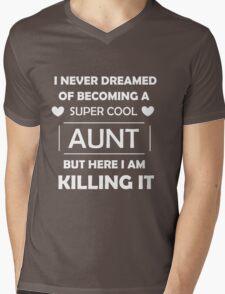 Super Cool Aunt - White Mens V-Neck T-Shirt