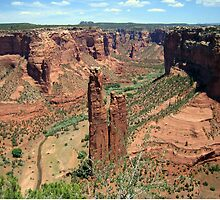 Spider Rock, Canyon De Chelly by Laurie Puglia