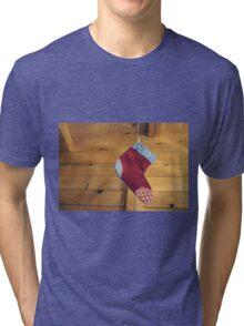 Christmas Sock Tri-blend T-Shirt