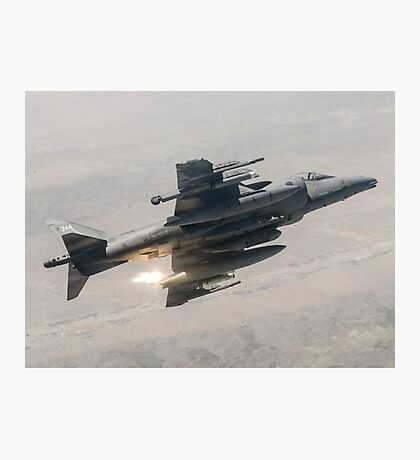 RAF Harrier ZD376 Photographic Print
