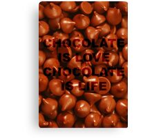 Chocolate. Canvas Print
