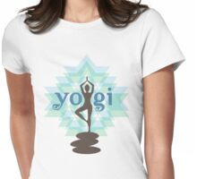 Yogi Posing Womens Fitted T-Shirt