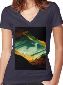 Native Dream Catchers Women's Fitted V-Neck T-Shirt