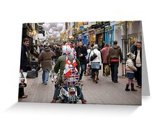 1960's scooter in Carnaby Street, London Greeting Card