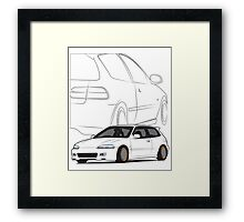 JDM Hatch Framed Print