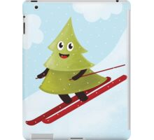 Happy Pine Tree On Ski iPad Case/Skin