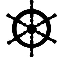 Nautical Ship's Wheel Photographic Print