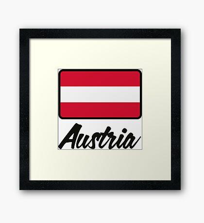 National Flag of Austria Framed Print