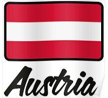 National Flag of Austria Poster