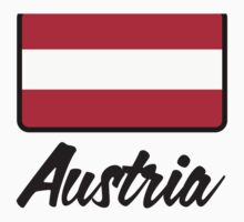 National Flag of Austria by artpolitic