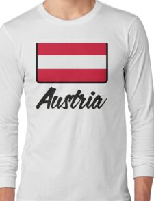 National Flag of Austria Long Sleeve T-Shirt
