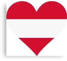A heart for Austria Canvas Print