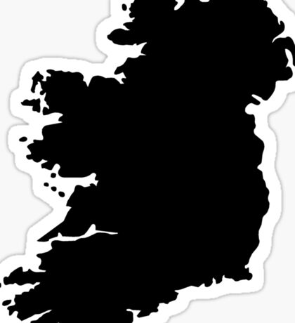 Map of Ireland Sticker