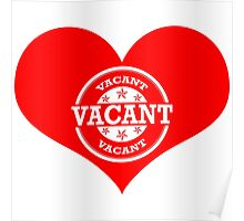 Vacant Heart! (White Version) Poster