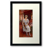 REPIN, ILYA - Portrait of the Violinist Cecilia Hansen Framed Print