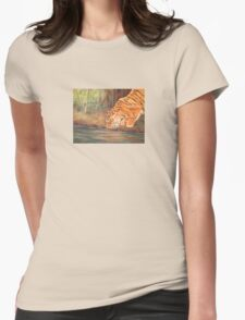 Forest Tiger Womens Fitted T-Shirt