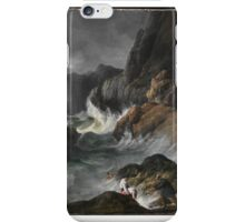 Shipwreck Horac, Horace Vernet, Oil On Canvas, Romantic Art, Art History, Vernet French, Natural, Coast Scene, Stormy Coast iPhone Case/Skin