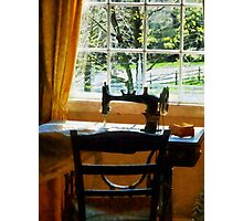 Sewing Machine By Window Photographic Print