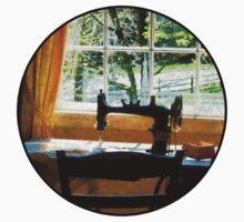 Sewing Machine By Window Kids Tee