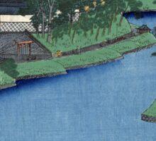 Benkei Moat From Soto-Sakurada To Kohimachi - Hiroshige Ando - 1856 - Woodcut Sticker