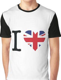 I love the United Kingdom Graphic T-Shirt
