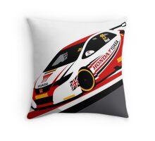 Matt Neal 2015 Honda Yuasa Racing Touring Car BTCC Throw Pillow