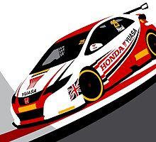 Matt Neal 2015 Honda Yuasa Racing Touring Car BTCC by F1Profiles