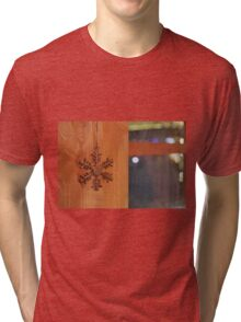 Golden Snow Flake Tri-blend T-Shirt